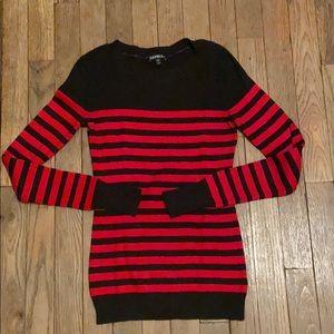 Red & black striped sweater